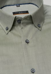 ETERNA LANGARM HEMD SLIM FIT OXFORD KHAKI UNIFARBEN
