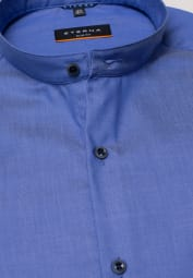 ETERNA LANGARM HEMD SLIM FIT TWILL BLAU UNIFARBEN