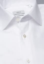 ETERNA LANGARM HEMD COMFORT FIT NEVER IRON SHIRT TWILL WEISS STRUKTURIERT