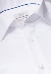 ETERNA LANGARM HEMD COMFORT FIT GENTLE SHIRT TWILL WEISS UNIFARBEN