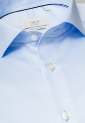 ETERNA LANGARM HEMD MODERN FIT GENTLE SHIRT TWILL HELLBLAU UNIFARBEN
