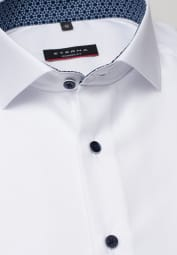 ETERNA KURZARM HEMD MODERN FIT COOL SHIRT TWILL WEISS UNIFARBEN